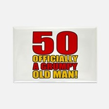 Grumpy 50th Birthday Rectangle Magnet