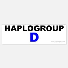 Haplogroup D Bumper Bumper Bumper Sticker