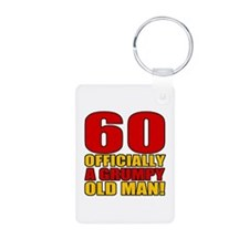 Grumpy 60th Birthday Keychains