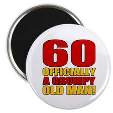 "Grumpy 60th Birthday 2.25"" Magnet (10 pack)"