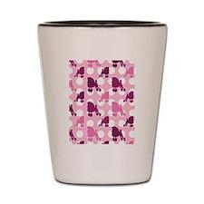 Pink Poodle Polka Dot Shot Glass