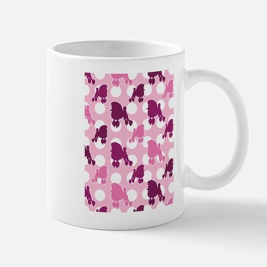 Pink Poodle Polka Dot Mug