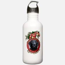 Christmas - Deck the Halls - Labradors Water Bottle
