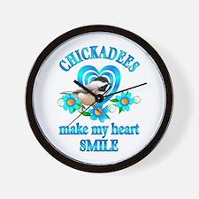 Chickadee Smile Wall Clock