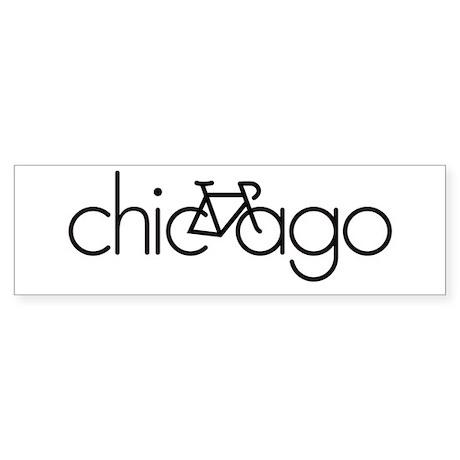 Bike Chicago Sticker (Bumper)