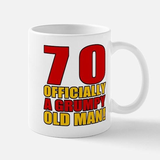 Grumpy 70th Birthday Mug