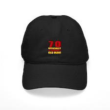 Grumpy 70th Birthday Baseball Hat