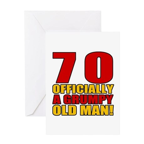 Grumpy 70th Birthday Greeting Card