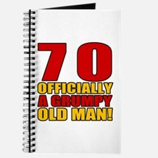 Grumpy 70th Birthday Journal