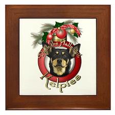 Christmas - Deck the Halls - Kelpies Framed Tile