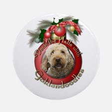 Christmas - Deck the Halls - GoldenDoodles Ornamen