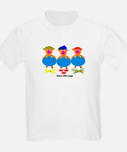 Three Little Pigs Kids T-Shirt