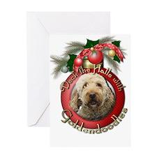 Christmas - Deck the Halls - GoldenDoodles Greetin