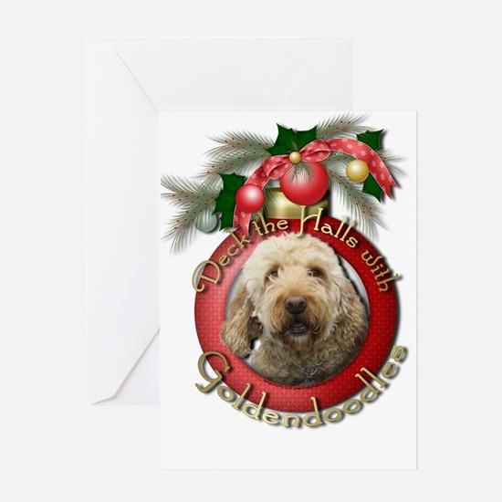 Christmas - Deck the Halls - GoldenDoodles Greetin