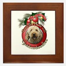 Christmas - Deck the Halls - GoldenDoodles Framed