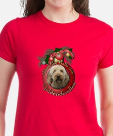 Christmas - Deck the Halls - GoldenDoodles Tee
