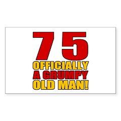 Grumpy 75th Birthday Decal