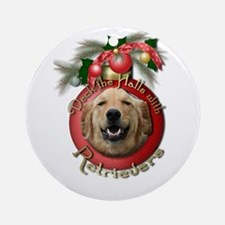 Christmas - Deck the Halls - Retrievers Ornament (