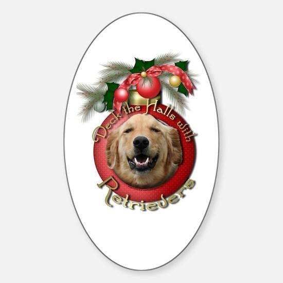 Christmas - Deck the Halls - Retrievers Decal