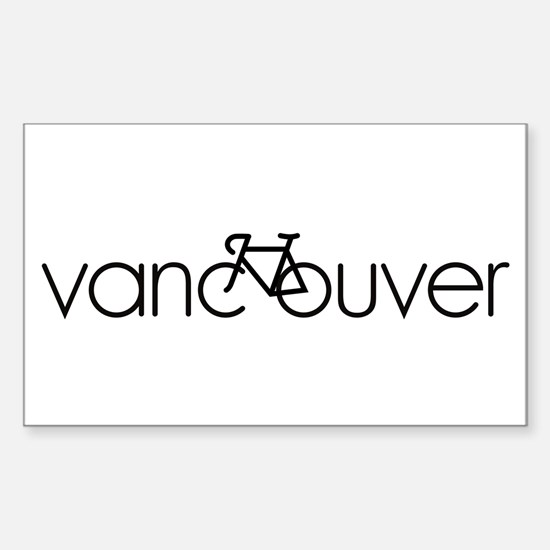 Bike Vancouver Sticker (Rectangle)