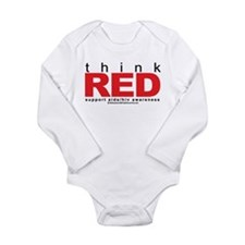 AIDS Think Red Long Sleeve Infant Bodysuit