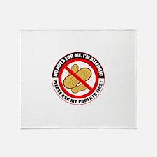 Peanut Allergy 2 Throw Blanket