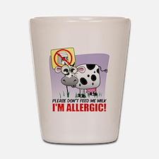 Milk Allergy Shot Glass