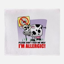 Milk Allergy Throw Blanket