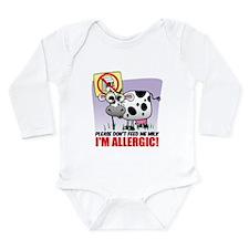 Milk Allergy Long Sleeve Infant Bodysuit