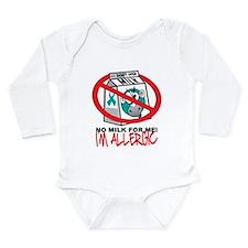 Milk Allergy 2 Long Sleeve Infant Bodysuit