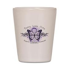 Alzheimer's Tribal Butterfly Shot Glass