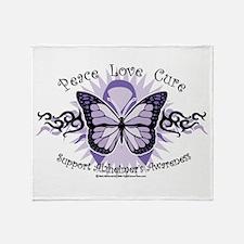 Alzheimer's Tribal Butterfly Throw Blanket