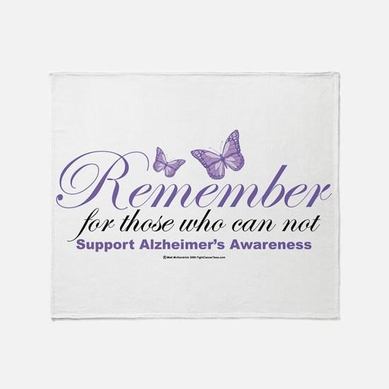 Remember Alzheimer's Throw Blanket