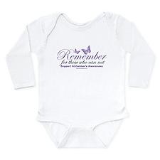 Remember Alzheimer's Long Sleeve Infant Bodysuit
