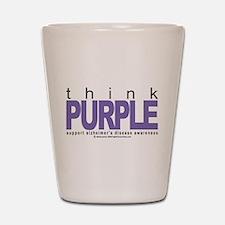 Think Purple Shot Glass