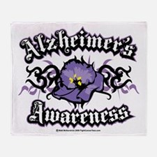Alzheimers-Tribal-Violet Throw Blanket