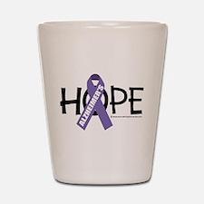 Alzheimers Hope Shot Glass