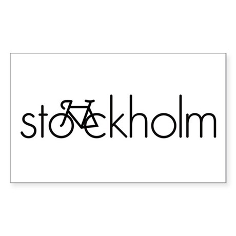 Bike Stockholm Sticker (Rectangle)