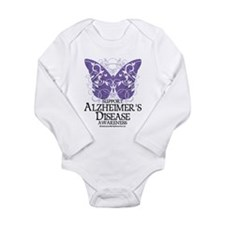 Alzhimers Butterfly 4 Long Sleeve Infant Bodysuit
