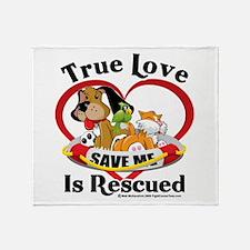 Rescued-Love Throw Blanket