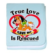 Rescued-Love baby blanket