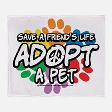 Paws-Adopt-2009 Throw Blanket