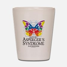 Asperger's Syndrome Butterfly Shot Glass