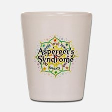Asperger's Syndrome Lotus Shot Glass