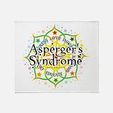 Asperger's Syndrome Lotus Throw Blanket