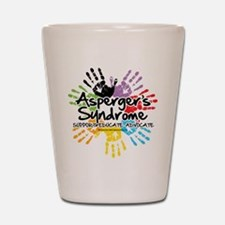 Asperger's Syndrome Handprint Shot Glass