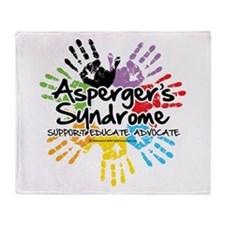 Asperger's Syndrome Handprint Throw Blanket