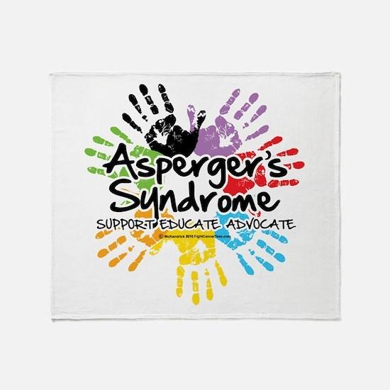 Asperger's Syndrome Handprint Throw Blanket