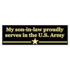 Son-in-law serves Bumper Car Sticker