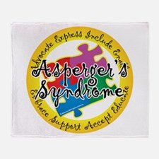 Asperger's Syndrome Puzzle Pi Throw Blanket
